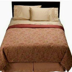 Fieldcrest floral queen duvet and 2 pillow shams